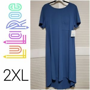 LuLaRoe | 2XL Carly Swing Dress Quilted NEW Solid